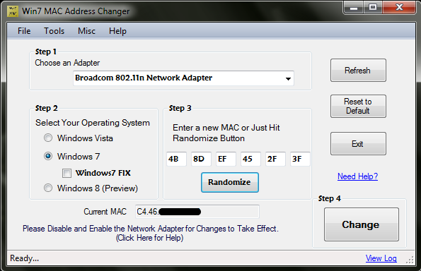 how to forget a network mac